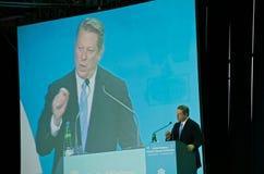 Al Gore, der am UNO-Klima-Gipfel spricht Stockbilder