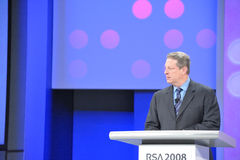 Al Gore at RSA Conference stock photography