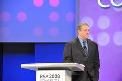 Al Gore at RSA Conference. April 11th, 2008. San Francisco California. RSA Conference held at Moscone Center. The RSA conference is major conference for Stock Photography