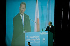 Al Gore Speaking at the UN Climate Summit Royalty Free Stock Photography