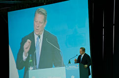 Al Gore Speaking at the UN Climate Summit Stock Images