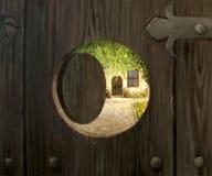 Al gradino della porta Fotografie Stock
