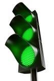 Al groen verkeerslicht Royalty-vrije Stock Afbeelding