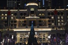 Al Habtoor市在迪拜,阿拉伯联合酋长国 免版税库存图片
