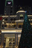 Al Habtoor市在迪拜,阿拉伯联合酋长国 免版税库存照片