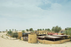 Al Hadheerah desert arabian restaurant view Royalty Free Stock Photos