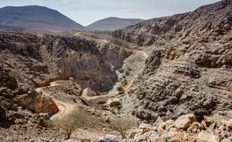 Al Hajar góry Fujairah obraz royalty free