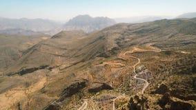 Al Hajar Mountains av Oman stock video