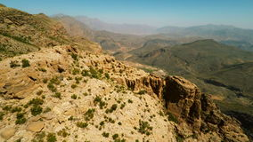 Al Hajar Mountains av Oman stock video