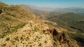 Al Hajar Mountains av Oman arkivfilmer