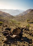 Al Hajar Mountains of Fujairah stock images