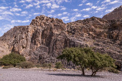 Al Hajar Mountains in Oman Lizenzfreie Stockbilder