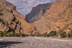 Al Hajar Mountains in Oman Lizenzfreies Stockbild