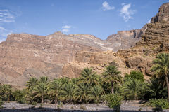 Al Hajar Mountains in Oman Lizenzfreies Stockfoto