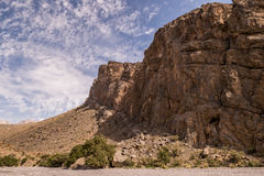 Al Hajar Mountains in Oman Stockbild