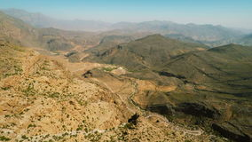 Al Hajar Mountains of Oman stock footage