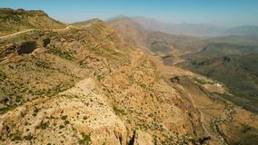 Al Hajar Mountains van Oman stock videobeelden