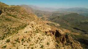 Al Hajar Mountains van Oman stock footage