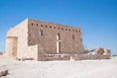 Al Hallabat van Qasr woestijnkasteel royalty-vrije stock foto's