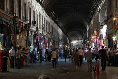 Al-Hamidiyah Souq Bazaar, Damascus. royalty free stock images