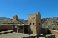 Al Hayl Fort in de Emiraat van Fujairah, Verenigde Arabische Emiraten Stock Afbeeldingen