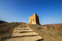 Al Hayl Fort, Foudjairah Photographie stock