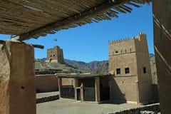 Al Hayl Fort no emirado de Fujairah, Emiratos Árabes Unidos Fotografia de Stock