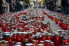Al Heiligendag, Mirogoj-begraafplaats in Zagreb Stock Foto
