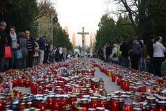 Al Heiligendag, Mirogoj-begraafplaats in Zagreb Royalty-vrije Stock Afbeeldingen