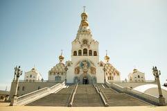 Al heiligenkerk in Minsk, Wit-Rusland De herdenkingskerk van Minsk van Alle Heiligen en in geheugen van de slachtoffers stock fotografie