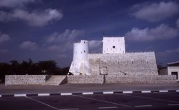 Al Hisn Kalba Kalba Fort Royaltyfria Foton