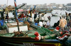 Am Hafen von Al hodeidah Lizenzfreies Stockbild