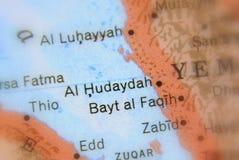 Al Hudaydah, miasto w Jemen zdjęcia stock