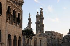 Al Hussein Moskee - Kaïro - Egypte Stock Foto's