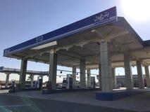 Al Idrees在Makkah-Taif高速公路旁边的加油站在Makkah,沙特阿拉伯 免版税库存照片