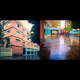 Al Iman-middelbare school Stock Foto's