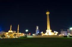 Al Itihad公园沙扎阿拉伯联合酋长国 免版税库存照片