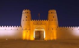 Al Jahili堡垒在Al Ain,阿布扎比 图库摄影