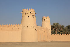 Al Jahili Fort in Al Ain, Abu Dhabi Royalty Free Stock Photography