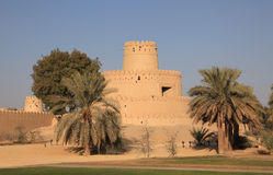 Al Jahili Fort in Al Ain, Abu Dhabi Stock Photos
