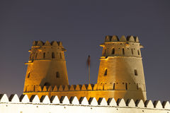 Al Jahili Fort in Al Ain, Abu Dhabi Royalty Free Stock Photo