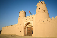 Al Jahili fort in Al Ain, de V stock foto