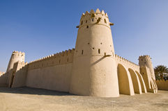 Al Jahili Fort - Inner Fort. Built by Shk Zayed the first in 1890s.  This was the first fort built, the outer walls mosque and round tower were added later Stock Images
