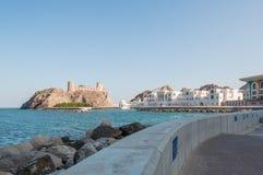 Al Jalali Fort, Muscateldruif, Oman Stock Foto's