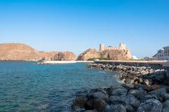 Al Jalali Fort, Muscateldruif, Oman Stock Foto