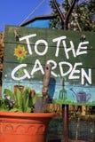 Al jardín imagenes de archivo