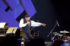 Al Jarreau de concert Photographie stock libre de droits