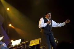 Al Jarreau de concert Photos libres de droits
