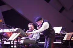 Al Jarreau en concierto Imágenes de archivo libres de regalías