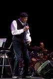 Al Jarreau en concierto Foto de archivo libre de regalías